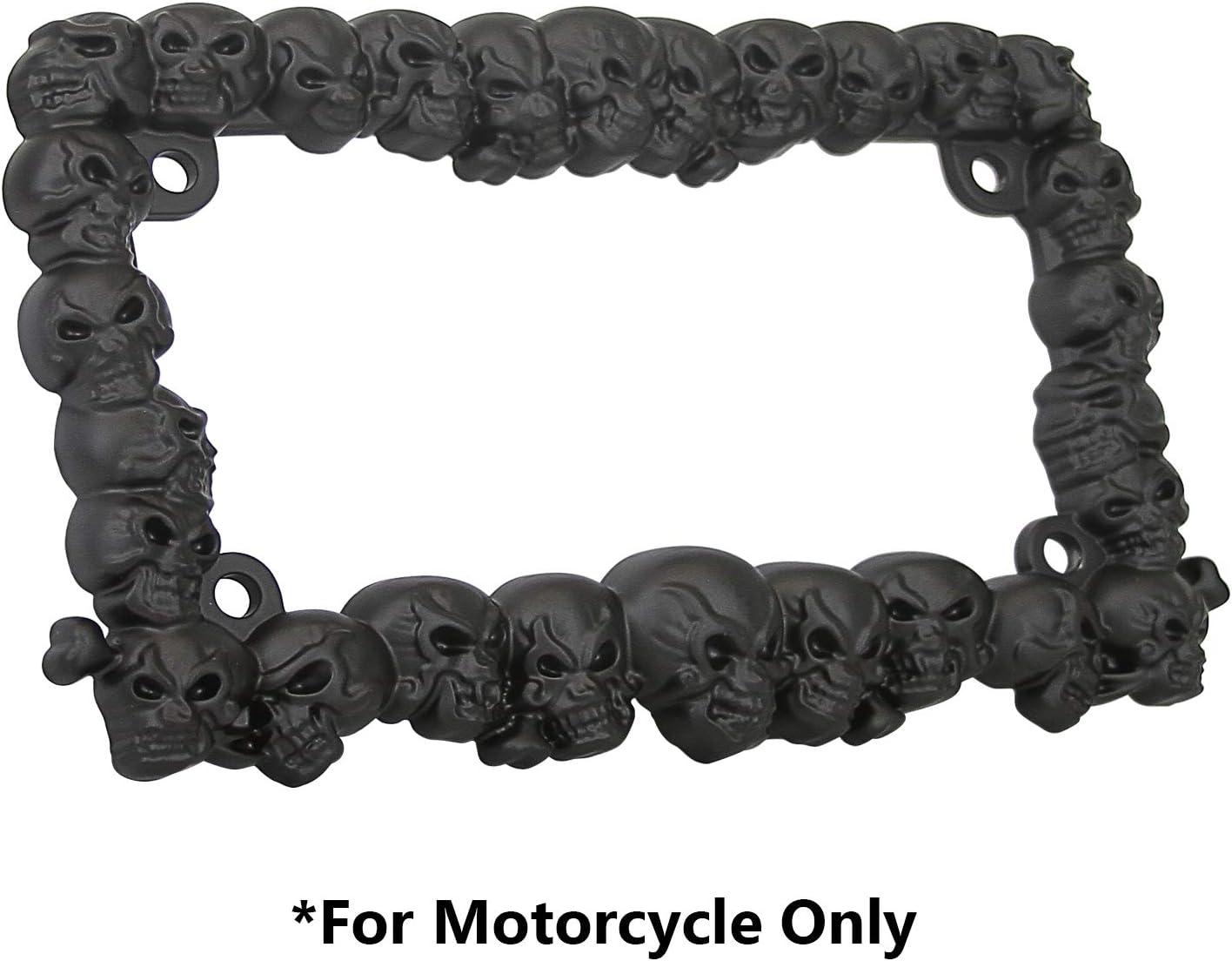 TC Japan's largest assortment Sportline LPF270-BK 3D Skulls Courier shipping free shipping Style Matte Fi Zinc Metal Black