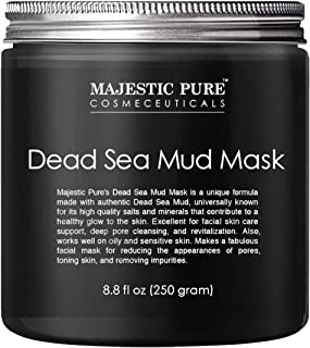 MAJESTIC PURE Dead Sea Mud Mask – Natural Face and Skin Care for Women and Men..