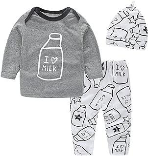 Yilaku Baby Girl Clothes Newborn Baby Long Sleeves Tops + Pants + Headband 3pcs Baby Winter Clothes Outfit Sets