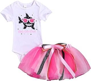 Oucan Toddler Baby Kid Girls Shark Romper Tops Tutu Skirt Princess Outfit Set Clothes