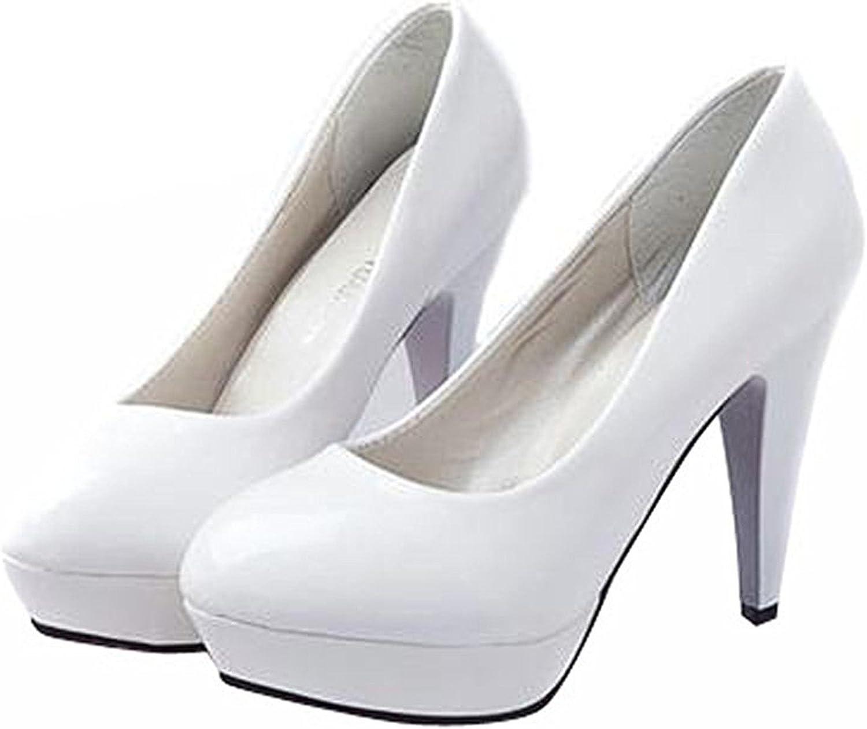 WANabkman Bekväma Bekväma Bekväma Kvinnors Plattform Solid Färg High klackar Stiletto Pumpar Bröllopsskor  billigare priser