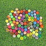 Pelotas de Rebote,Bouncy Balls 30 Piezas Coloridas Bolas de Rebote Mixtas 32mm Pelota de Goma para...
