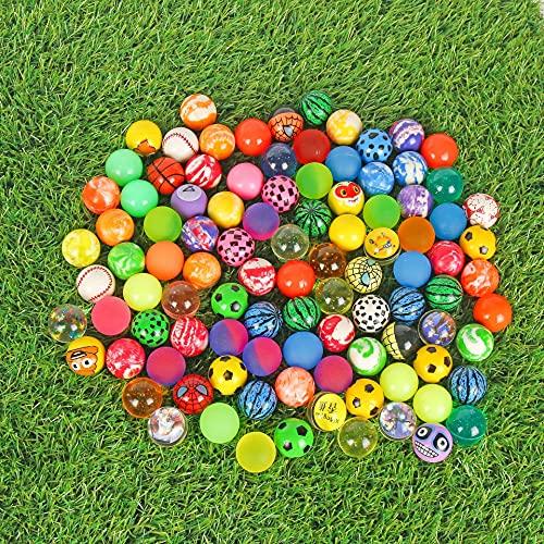 Palline Rimbalzanti,Bouncy Ball in Gomma 30 Pezzi 32 mm Assortita Palline Colorate Palle Rimbalzante Alta,per Bambini Compleanno Premi
