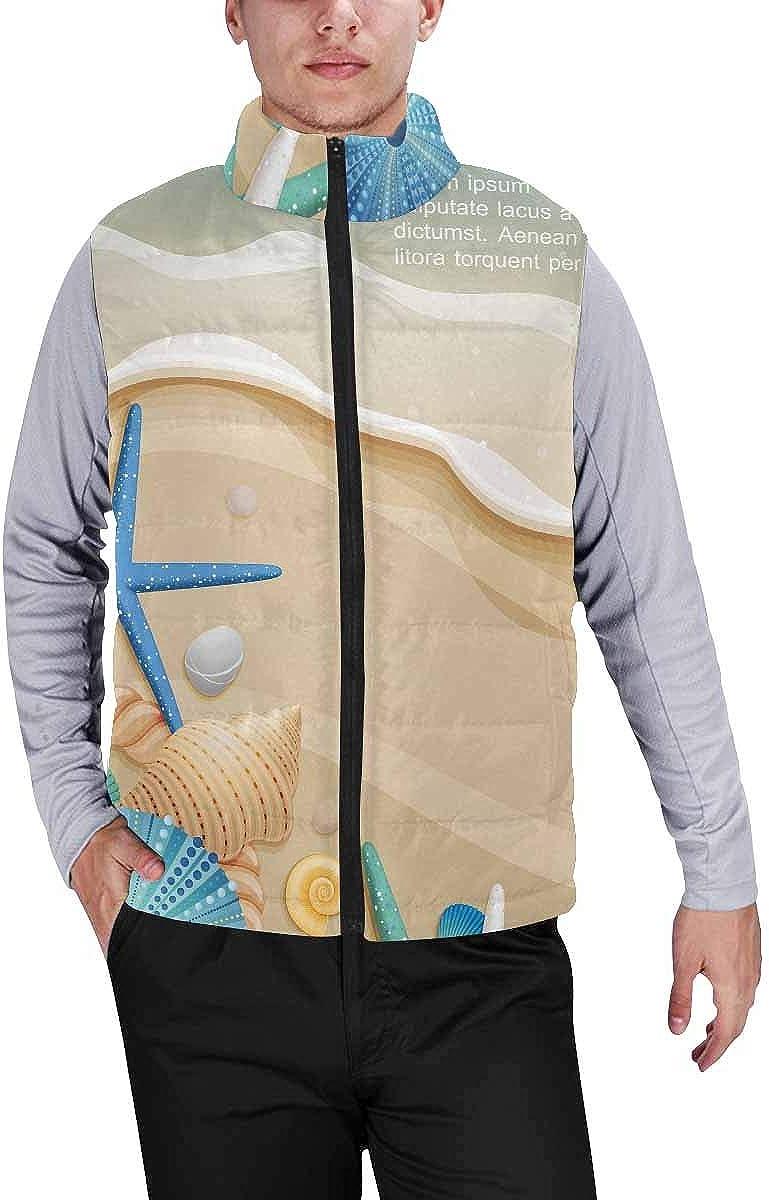 InterestPrint Men's Casual Sleeveless Coats with Personality Design Flamingo Love