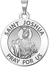 PicturesOnGold.com Saint Joshua Religious Medal - Available in Solid 14K Yellow or White Gold, or Sterling Silver