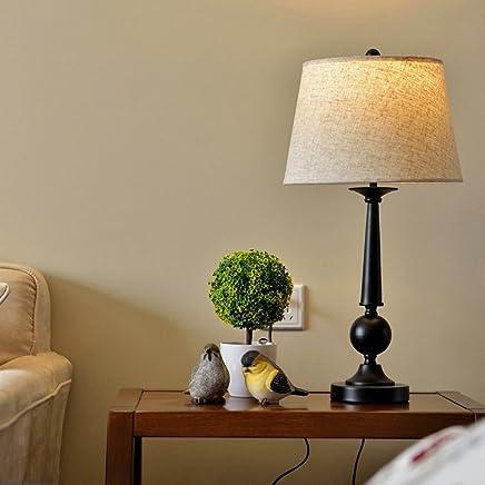 MILUCE アメリカの牧歌的なテーブルランプベッドルームのベッドサイドランプシンプルなデスクランプファッションリビングルームスタディランプ
