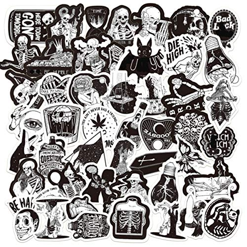 Edgy Stickers| 50 PCS |Vinyl Waterproof Stickers for Laptop,Bumper,Skateboard,Water Bottles,Computer,Phone, Stickers for Adult and Teens,So Cool(Gothic-50-4)
