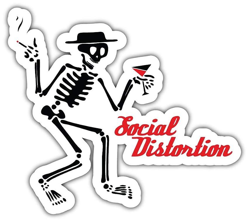 Music Social Distortion Logo Sticker Car Bumper Decal 5'' X 4''