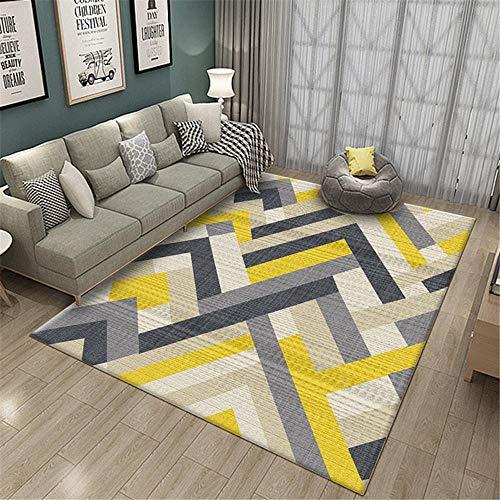 alfombras infantiles lavables alfombras lavables salon La alfombra amarilla de la sala de estar es resistente a las manchas, al desgaste, se puede lavar a máquina y no se decolora. alfombras infantile