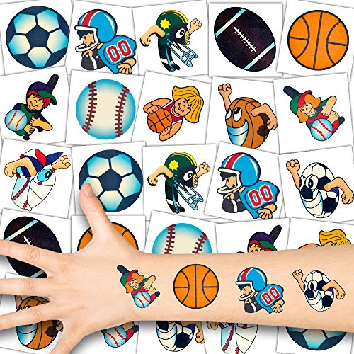 German Trendseller® 36 x Sport Kinder Tattoos - Set┃temporäre Ball Tattoos┃Kindergeburtstag┃Mitgebsel┃36 Tattoos