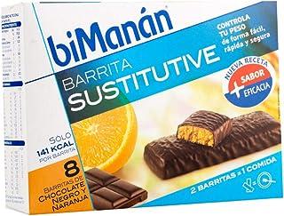 Bimanán Sustitutive Barritas Chocolate Negro y Naranja 8 uds