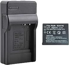 Battery +Charger for Panasonic Lumix CGA-S007E DMC-TZ5 DMC-TZ4 DMC-TZ3 TZ2 UK