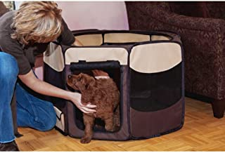 Pet Gear Travel Lite Portable Play Pen/Soft Crate Removable Shade Top Dogs/Cats/Rabbits, Easy-Fold + Built-in Stay Fold Ba...