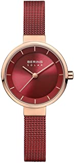 BERING Womens Analogue Solar Powered Watch with Stainless Steel Strap 14627-363