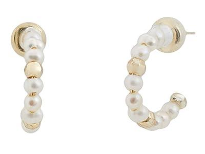 Kendra Scott Scarlet Huggie Earrings (Gold White Pearl) Earring