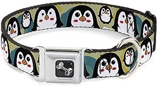 Buckle-Down Seatbelt Buckle Dog Collar - Penguin Cartoon - 1