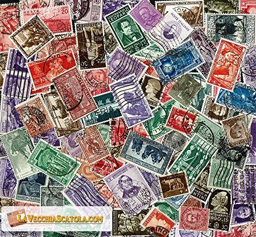 LaVecchiaScatola 100 Francobolli Regno d'Italia Diversi usati