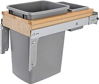 Rev-A-Shelf 35 Quart Top Mount Waste Container, Natural