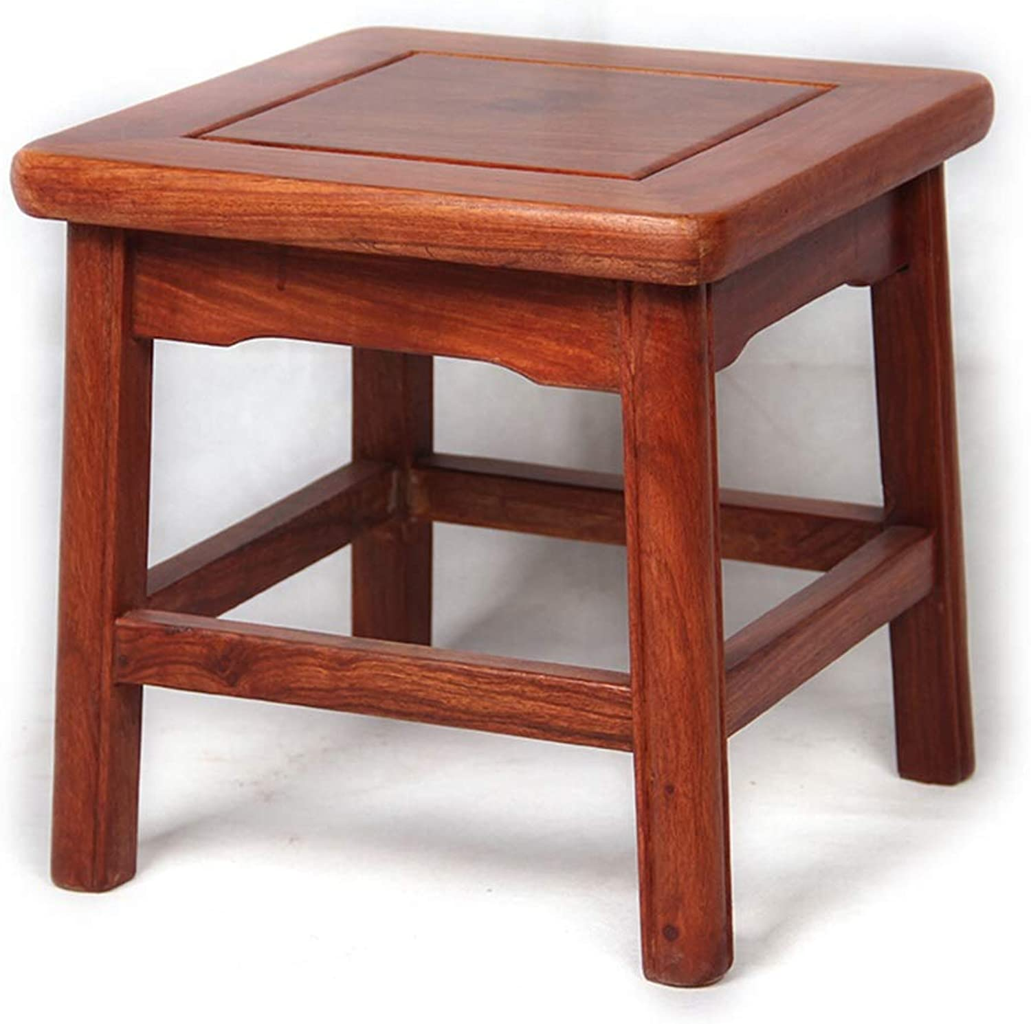 Footstool Solid Wood Square Stool Change shoes Stool Small Stool Living Room Adult Home Sofa Stool Wood Bench Living Room Small Bench