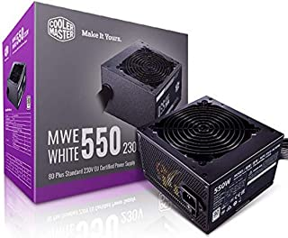 Cooler Master MWE 80Plus White 550W 230V 80Plus Single +12V Rail Silent Mode DC-to-DC Power Supply - Black - MPE-5501-ACAB...