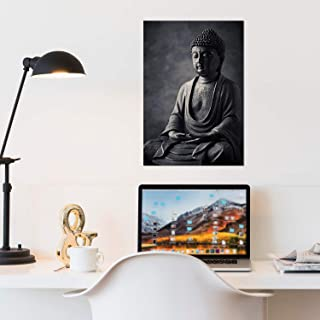 Canvas Unframed Lord Buddha Sitting On Amitabha Pose Wall Art Painting Decor Home   Bedroom   HD Print   by Paper Plane De...
