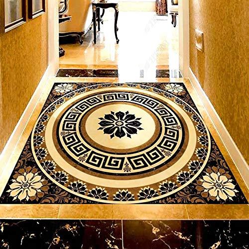 Papel pintado autoadhesivo personalizado para suelo Waterptoof 3D mármol geométrico Mural 3D suelo azulejos pegatina PVC sala de estar hotel murales-400 * 280cm
