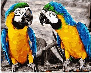Bricolaje Regalo De Pintura Al Óleo Para Adultos King Kong Guacamayo Animal Niños Pintura Por Número Kits Decoraciones Para El Hogar 40 * 50Cm