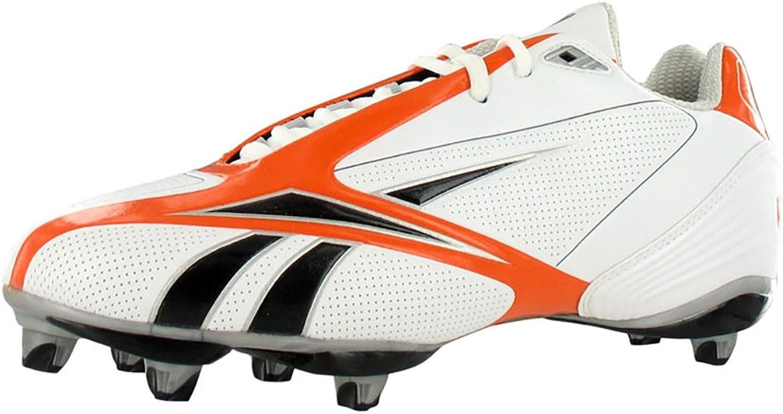 Reebok Pro Burner Speed III Low SD3 Mans Football Football Football skor Storlek US 15, Regulal Width, Färg svart  orange  vit  njuter av din shopping