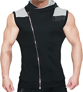 Mechaneer Men's Workout Gym Bodybuilding Muscle Sleeveless Hoodie