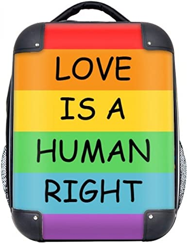 DIYthinker Homosexuell Lesben Regenbogen-Flagge Illustration Hard Case Schulter Kind-Rucksack-Geschenk 15