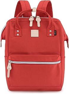 """Himawari Travel Backpack Large Diaper Bag School multi-function Backpack for Women&Men 17.7""""x11.8""""x7.9"""" (Red&plus)"""