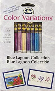 DMC Color Variations Floss Pack, Blue Lagoon, 8-Pack