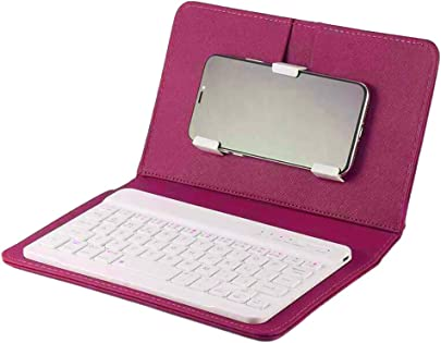 Putuio Bluetooth 3 0 Wireless Tastatur mit ausziehbarem St nder PU Leder Micro USB Tastatur f r Tablets PC Smartphone Schätzpreis : 13,79 €