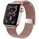 jwacct Bands Compatible for Apple Watch 38mm 40mm, Adjustable Magnetic Stainless Steel Bra...