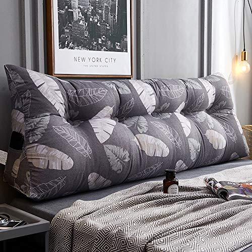 Goldenla Triangolo bed voor het hoofd, dubbele hoofd, grote rugleuning, slaapbank, sofakussen