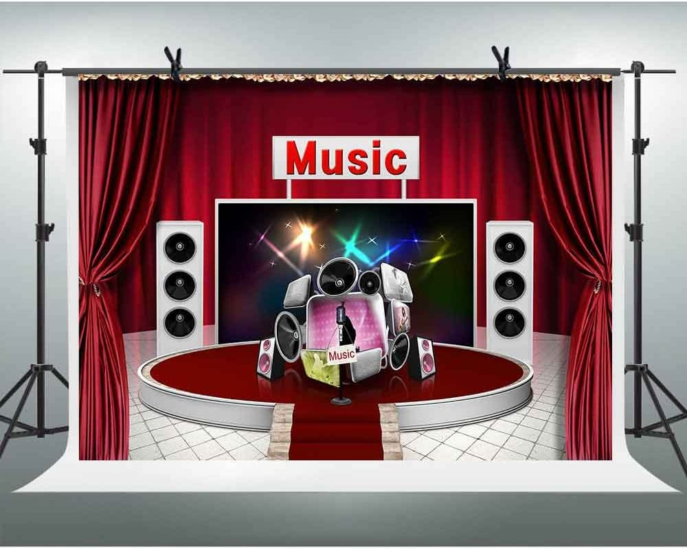 FHZON 10x7ft Musical Note Photography Backdrop Music Background Themed Party YouTube Backdrops Photo Booth Studio Props GEFH248