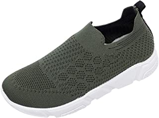 Women's Solid Color Flying Mesh Sports Shoes Casual Shoes A Pedal Lazy Shoes Outdoor Running Shoes Walking Shoes