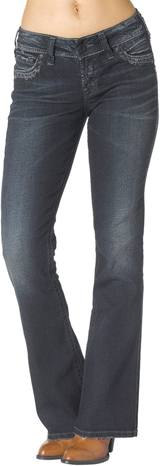 Silver Jeans Women Suki Mid Boot Mid Rise Curvy Fit Relaxed Hip Thigh Stretch