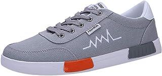 Scarpe Uomo Scarpe Casual Resistente all'Usura Sneaker Comoda Allacciata Punta Tonda (39 EU,1- Grigio)