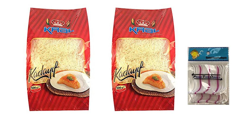 Year-end gift Kral Kadayif Kurutulmus Dried Kadaifi 500GR Bundle w of 2 Pack 35% OFF