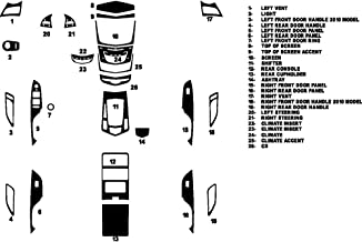 Rvinyl Rdash Dash Kit Decal Trim for Cadillac SRX 2013-2017 - Wood Grain (Burlwood Dark)
