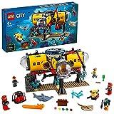 LEGO60265CityOcéano:BasedeExploración,SetdeConstrucciónparaNiños+6añosconDronSubacuáticoyMiniFiguras