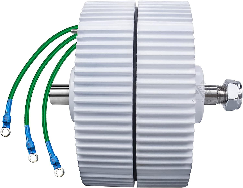 CHIXIA AC 300W Motor De Imán Permanente Sin Engranajes Alternadores De 3 Fases DIY Generador De Turbina Eólica 650 RPM-Eje Doble 24v