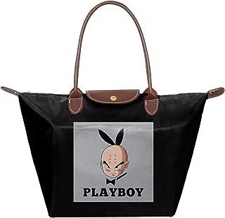 Dragon Ball Z Krillin Playboy Waterproof Leather Folded Messenger Nylon Bag Travel Tote Hopping Folding School Handbags