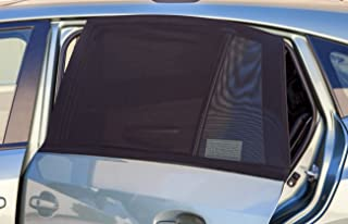 OxGord Back Window Car Sun Shade for Baby (Pack of 2) Universal Fit Air Mesh Screen Sunshade Cover fits Most Cars & SUVs