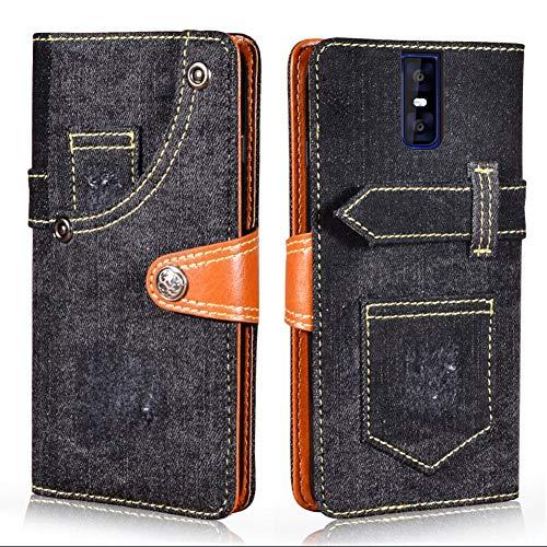 Manyip Hülle für Oukitel K3,Handyhülle Oukitel K3,[Cowboy-Stil] [Flip Cover] [Kartenfächern] [Magnetverschluss] Brieftasche Ledertasche für Oukitel K3