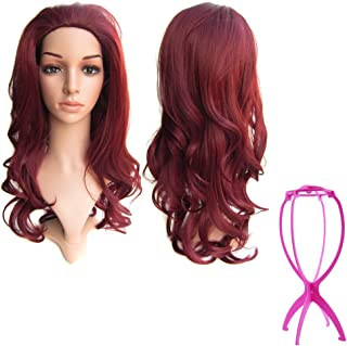 SIMUSTY 16colors 3/4 Half Wig,wig Stand Gift,Body Wave Wigs,Synthetic Hair Extensions 99J