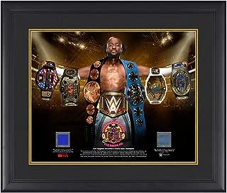 WWE Kofi Kingston Grand Slam Champion Commemorative 23 x 27 Used Ring Canvas Plaque