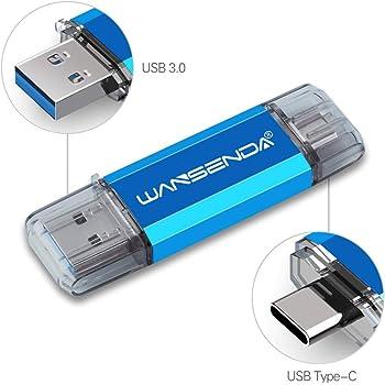 WANSENDA Memoria USB Tipo C 64GB, Unidad Flash USB 3.0 de Doble Puerto & USB C OTG Memory Stick Pendrive para Dispositivos Tipo C Android/Mac/PC: Amazon.es: Electrónica