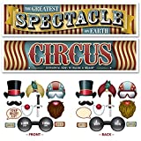 Vintage Circus Party Supplies - Photo Booth Props & Decorations for Circus, Carnival Party Supplies, and Selfie Stations